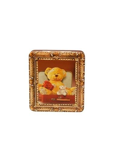 Dünya Style Bears Family Kırmızı Renkli Ayıcık Desenli Metal Kutu Renkli